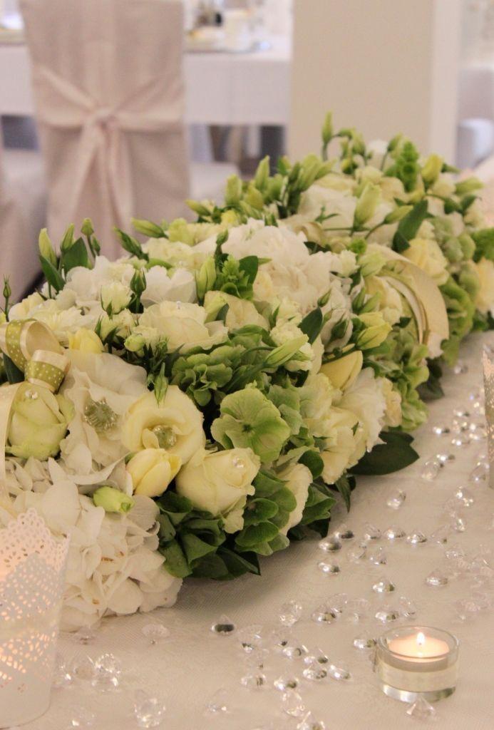 Kompozycja Kwiatowa Na ślubweselekomunię Ozdoba Stołudekoracja Sali