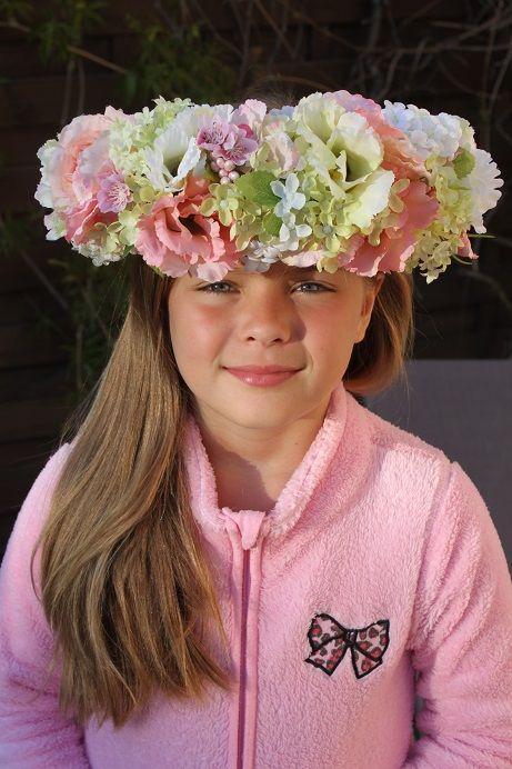 6ef79796b3 ... Wianek z pastelowych kwiatów-Ślub