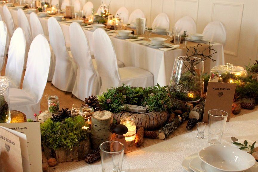 22d411090b59e8 ... bukiet Dekoracja sali w stylu leśnym- na 80 osób, Wesele, sala weselna,  ...