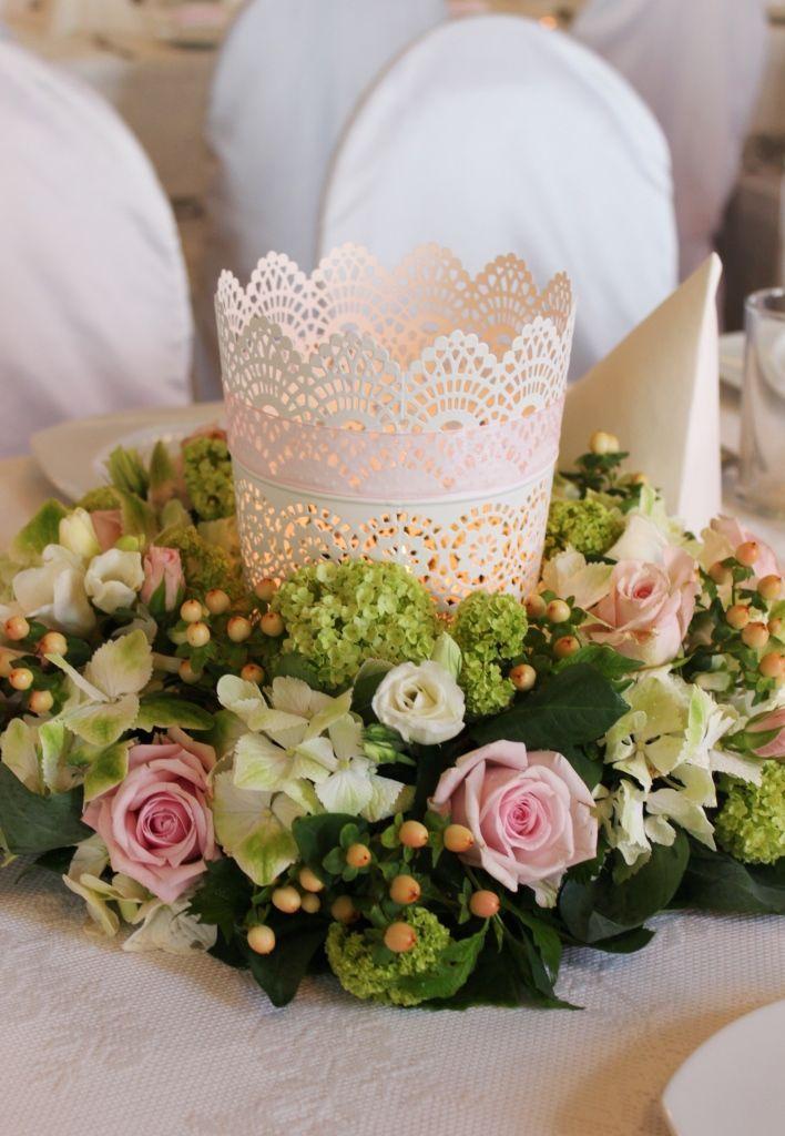 3cc6069ba2 Wianek z żywych kwiatów pastelowych-dekoracja weselna-ozdoba stołu-Letnie  Przebudzenie