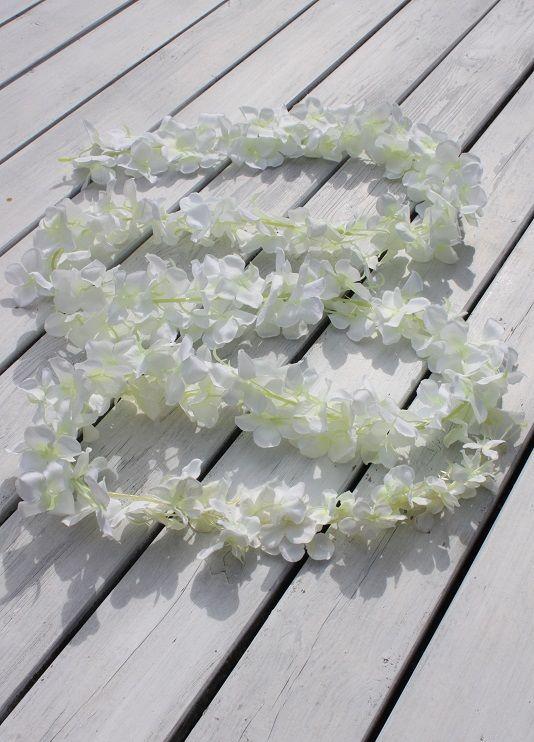 Girlanda Z Białych Kwiatów 2 Mdekoracja Do Domuozdobaślubwesele