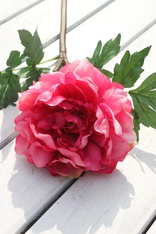Piwonia Peonia Fuksja Ciemny Róż Ekskluzywny Kwiat Sztucznyozdobadekoracja