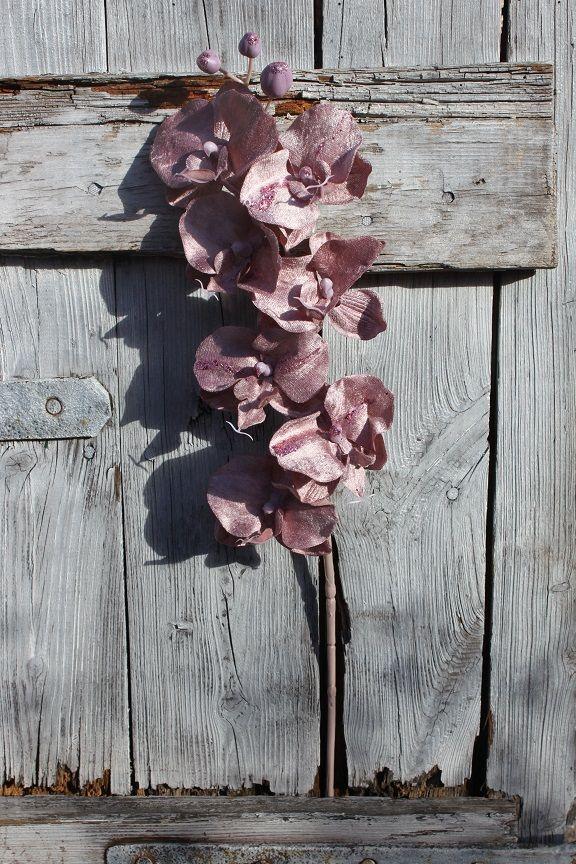 Storczyk Phalaenopsis Oprószony Brokatem Brudny Różekskluzywny Kwiat Sztuczny