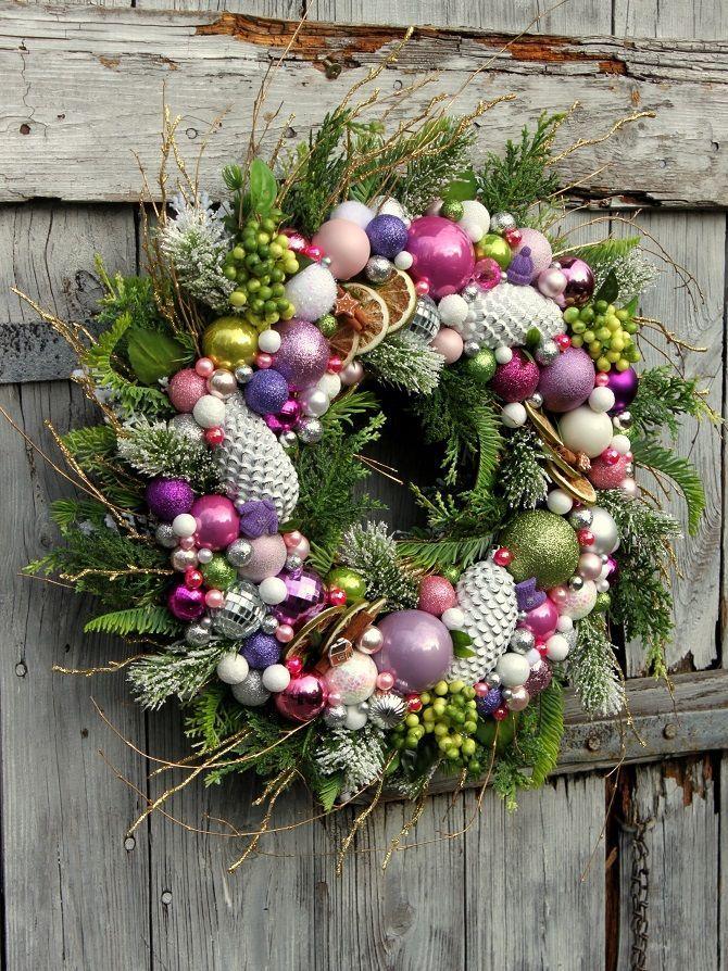 Wianek świąteczny Pastelove Wianki świąteczneozdoby świątecznedekoracje Na Boże Narodzenie