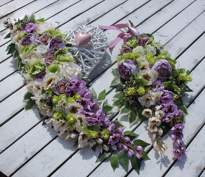 Stroik Serce Z Sercem Dekoracja Na Cmentarzna Gróbna Wszystkich świętych