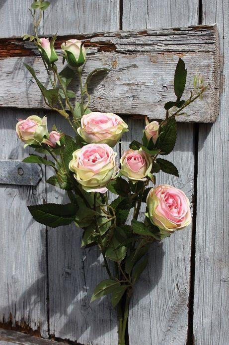 928fc339034da7 Różowa róża gałązkowa-ekskluzywny kwiat sztuczny