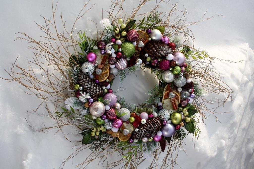 Wianek świąteczny Na Drzwi Pastelowe święta Wianki świąteczneozdoby świątecznedekoracje Na Boże Narodzenie
