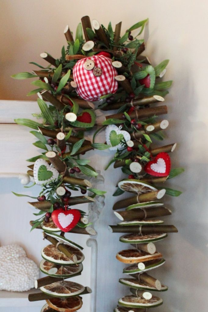 Girlanda świąteczna Z Gałązek Ozdoby świąteczne Dekoracje Na Boże Narodzenie