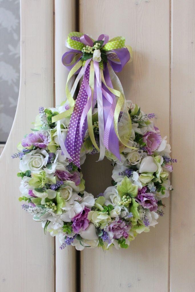 Wianek Z Kwiatów Prowansji Lawendaślubweselekomunia Dekoracje