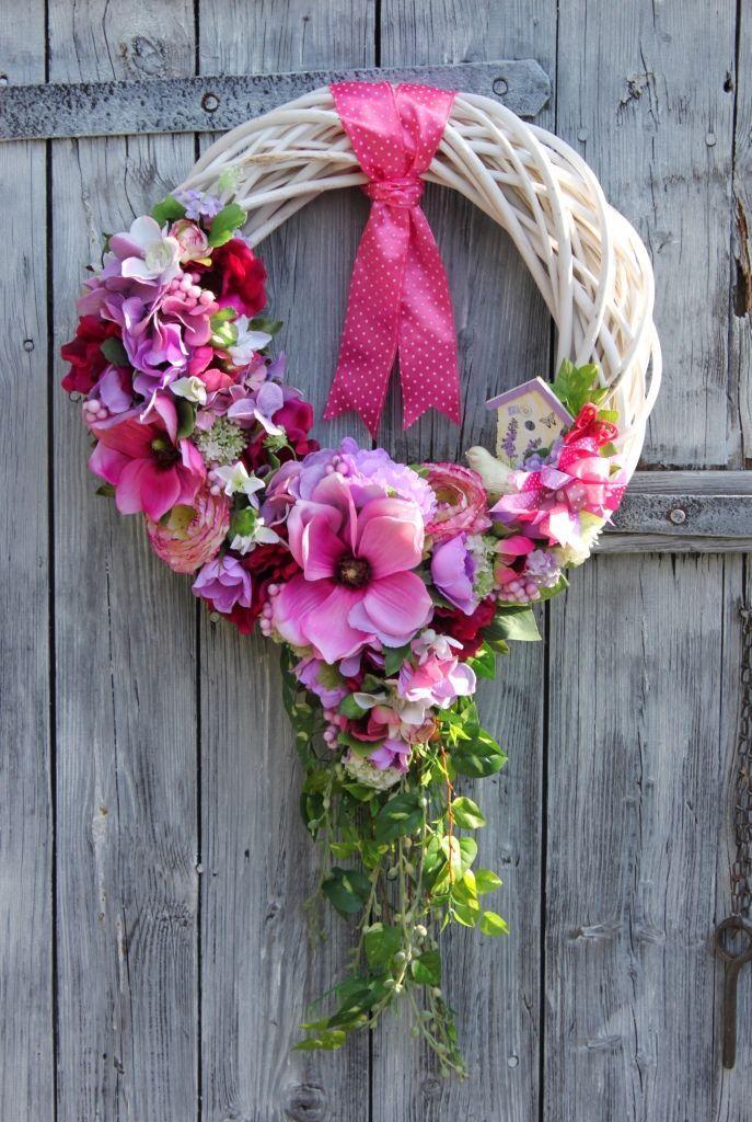 Wianek Letni Z Kwiatów Dekoracje Do Domu Kuchni Restauracji